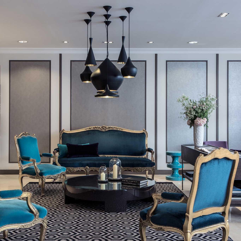 Le salon de l'Hôtel 4 étoiles Mansart à Paris